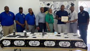 Bobby Crawford receives the Beehive Lodge #105 scholarship
