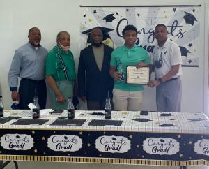 Cameron Jackson receives the Ruston Newbin Consistory #344 scholarship
