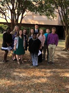 Students at the Fall Leadership Conference.