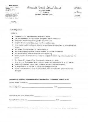 Chromebook Agreement Form