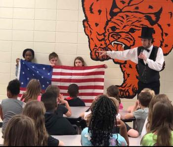 """Abe Lincoln"" Visits 1st - 5th Grade Students"