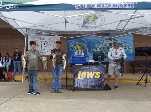 Colby and Maddox Williams at the NW LA Fishing Tournament