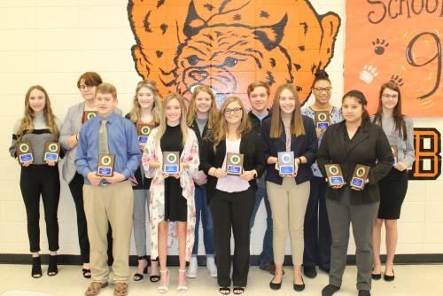 overall High School FBLA Winners qualifying for state