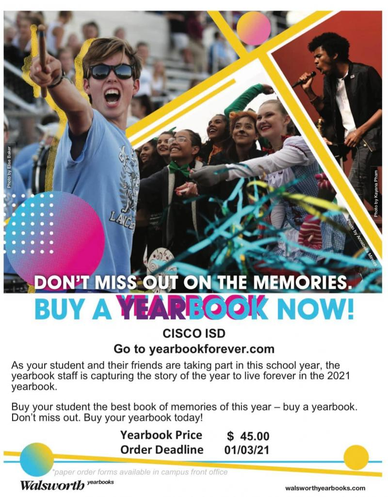 ORDER YEARBOOKS ONLINE NOW