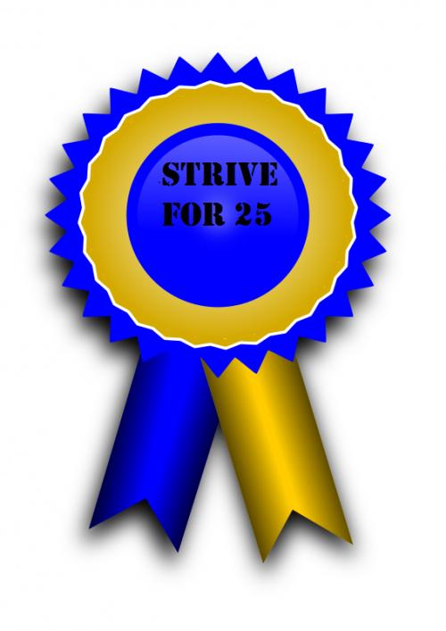 strive for 25 ribbon