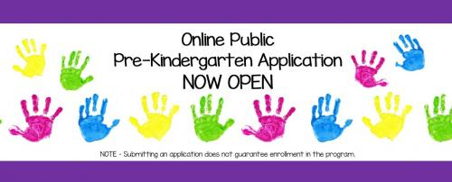 online prekindergarten application
