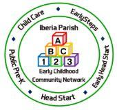iberia parish early childhood community network logo
