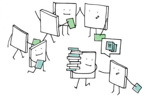 cartoon books high fiving