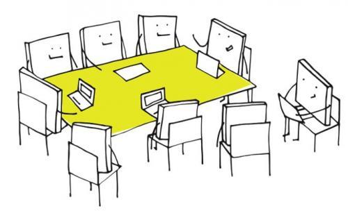 cartoon books around table