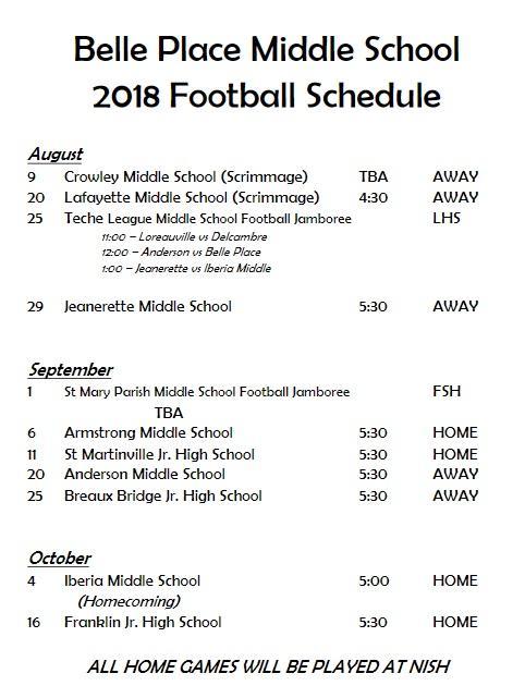 2018 bpms football schedule