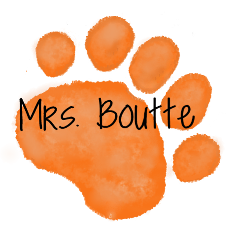 Orange Paw  Mrs. Mrs. Boutte