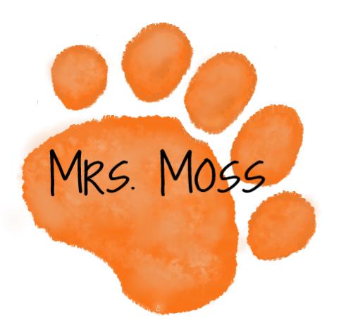 orange paw - Mrs. Moss