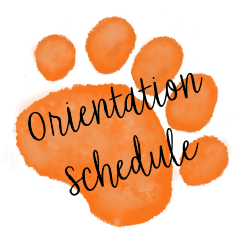 Orange paw with Orientation