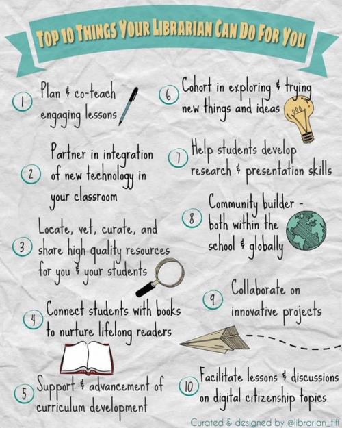 what your school librarian can do for you