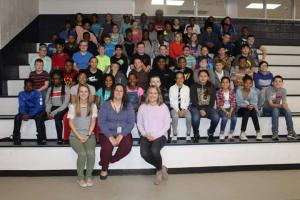 Team Columbia group picture - Mrs. Nutt is our Crockett Teacher of the Year