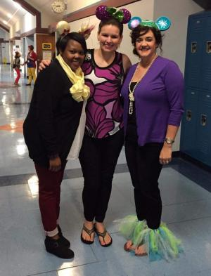 Disney Day: Ms. Dillard, Ms. Moon and Mrs. Plata