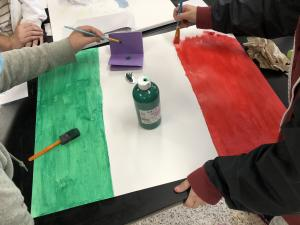 Mexican flag in progress