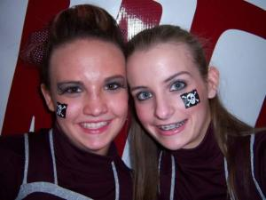 I was a cheerleader for three years in high school!