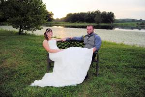 Me and my husband on our wedding day!