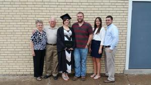 My grandparents, husband, sister, and brother-in-law at my college graduation.