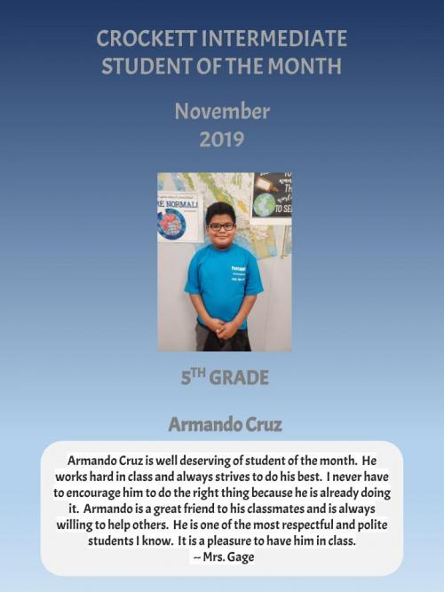 Student of the Month - boy