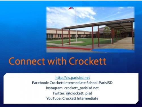 Ways to Connect with Crockett
