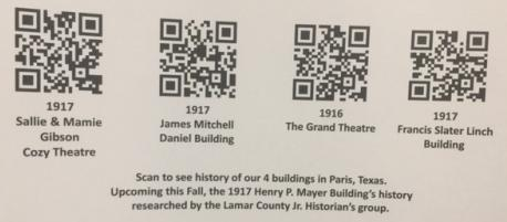 qr codes for downtown bldgs
