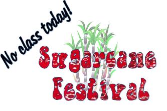 No Class Today!  Sugarcane Festival