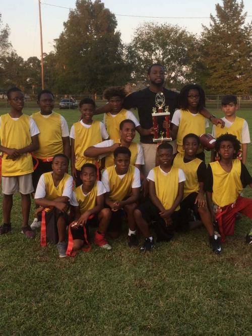 Flag Football Team Group Photo