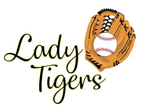 lady tigers softball and glove