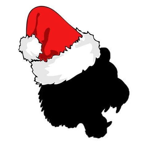 tiger head with santa hat