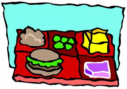 School lunch plate