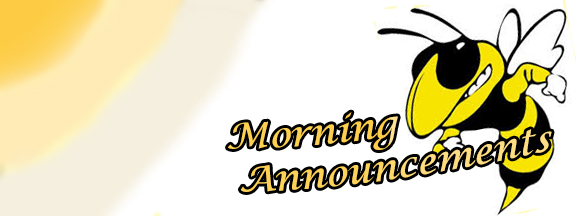 Morning Announcement Banner