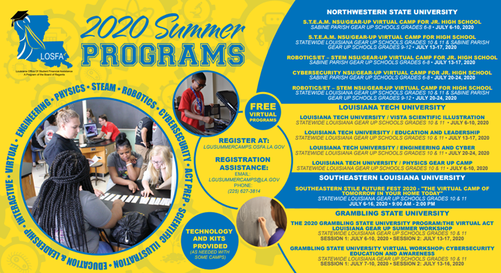 Summer Progams 2020