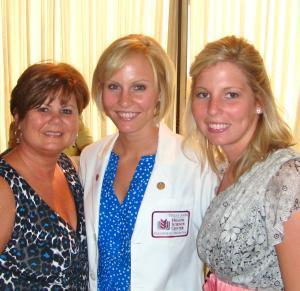 Rae, Jo, & Taylor at Jordan's White Coat Ceremony