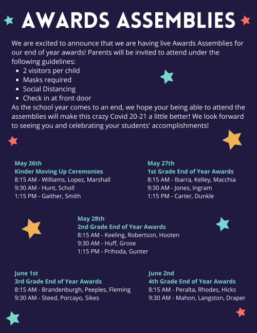 Awards Assembly Information