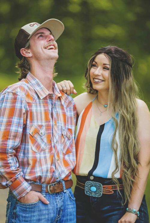 This is my husband Brayden and I! We have been married almost a year. He may look familiar to you if you have every played baseball at Woodall! He has coached out there for a long time!