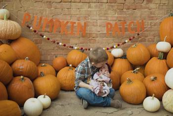 Our children, Brian and Delilah at the Paris Pumpkin Patch