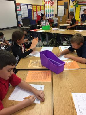 Mrs. Stacy Broussard's class during reading centers!