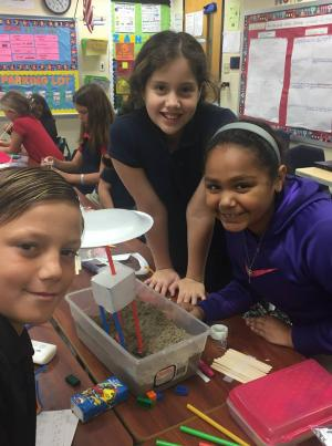 Mrs. Lori and Mrs. Kayla's classes designed houses to prevent erosion.