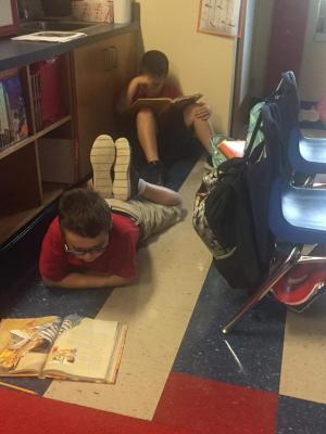 "Mrs Shana's class prepares for the awesome, craziness of Homecoming by having a ""Calm before the Storm"" reading adventure."
