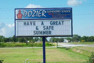 Dozier Elementary was in Fema Buildings after Hurricane Rita.