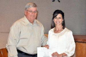 Karla Toups in 2011 as the Vermilion Parish Principal of the Year!