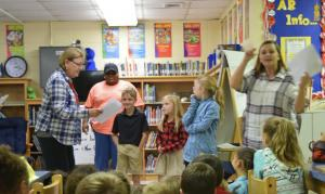 During Library time during the week, anti-bullying, conflict resolution and drug free skits were performed at Dozier Elementary.