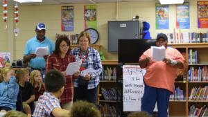 Anti-bullying, conflict resolution and drug free skits were performed during Library time all week at Dozier Elementary.