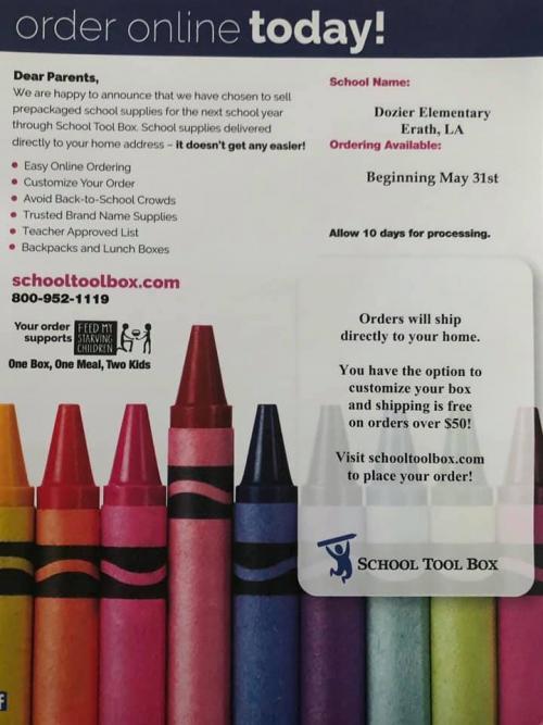 Order 2021-2022 Supplies Online