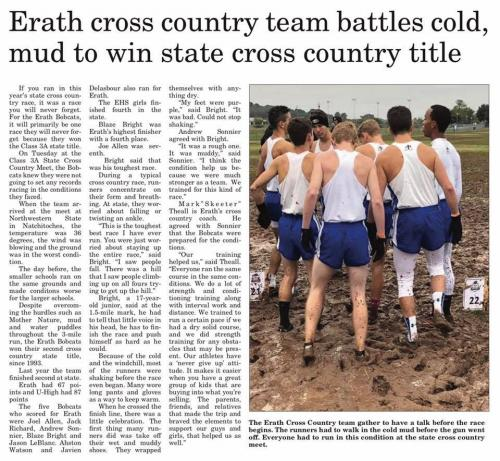 Cross Country State Champs