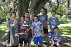 Erath Middle School Cross Country teams ran in the Sargent Memorial CC meet in Avery Island. The boys team finished second falling by a single point to CHNI's MS team. The boys had 3 top ten finishers while the girls had 2 top ten finishers. Top 10 finish
