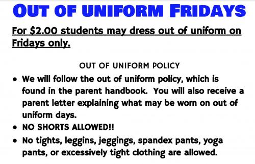Out of Uniform Fridays