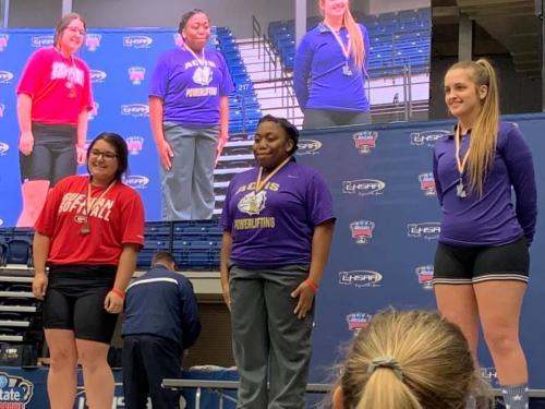 Kendra receiving Bronze Medal